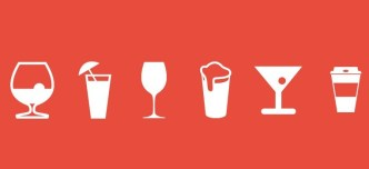 White Drinks Icons Pack PSD