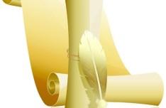 Elegant Paper Scrolls Vector 03