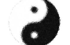 Foggy Ying Yang Symbol Vector