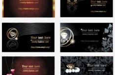 Set Of Elegant Jewelry Card Templates Vector