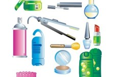 Set Of Vector Cosmetics Products 01