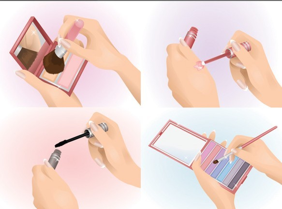 Vector Beautiful Makeup Ideas Illustration 03