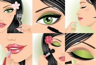 Vector Beautiful Makeup Ideas Illustration 04