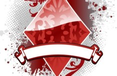 Creative Poker Playing Card Diamond Design Vector