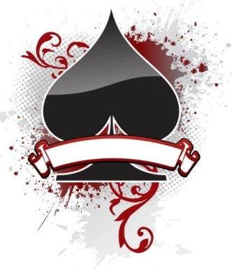 Creative Poker Playing Card Spade Design Vector