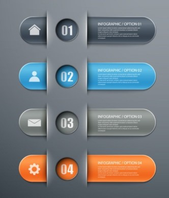 Fashion Infographic Number Options Design Elements Vector 02