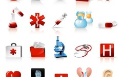 Set Of Vector Medical Supplies Icons