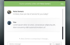Live Support Chat UI PSD
