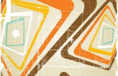 Retro Abstract Poster Background Vector 01