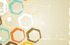Retro Abstract Poster Background Vector 02