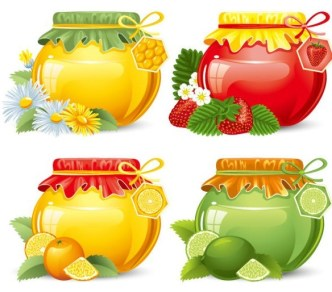 Set Of Vector Canned Fruit Icons 02