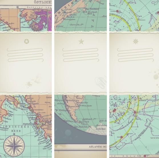 Vector Broken World Maps 01