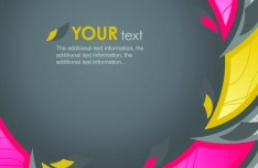 Colorful Abstract Shapes Background Vector 01