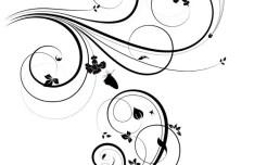 Flourish Swirl Floral Corner Patterns Vector 02