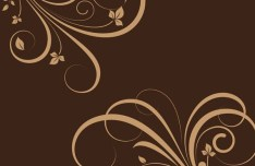 Flourish Swirl Floral Corner Patterns Vector 03