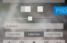Transparent iOS 7 UI Kit PSD