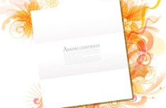 Vector Clean Blank Card Templates with Colorful Floral Backgrounds