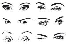 Vector Sketch Woman Eyes