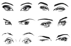 Vector Sketch Woman Eyes