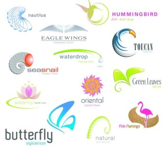 Set Of Vector Animal and Nature Logo Designs