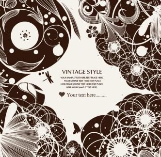 Vintage Ornamental Floral Patterns Vector 01
