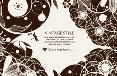 Vintage Ornamental Floral Patterns Vector 01