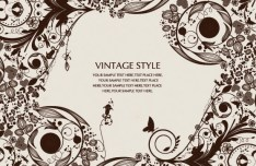 Vintage Ornamental Floral Patterns Vector 03