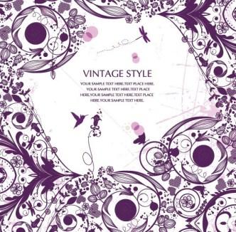 Vintage Ornamental Floral Patterns Vector 05