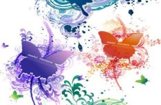 Colorful Butterfly Decorative Patterns Background Vector