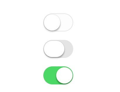 Free Flat iOS 7 Switch Buttons PSD - TitanUI