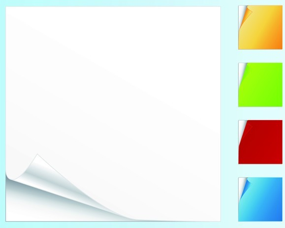 Set Of Colorful Bland Sticky Notes Vector