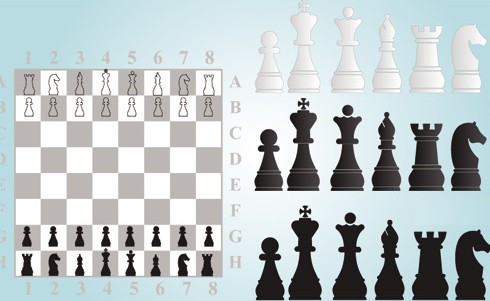 Vector Chess Design Elements Illustration 03