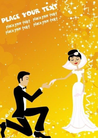 Vector Romantic Marriage Proposal Background