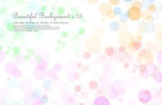 Beautiful Colored Bubbles Background Vector 02