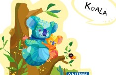 Cute Cartoon Koala Illustration Vector