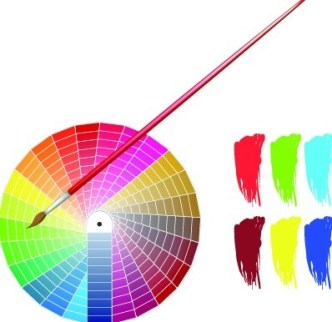 Vector Color Palette and Brushes