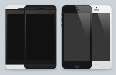 iPhone 5 and BlackBerry PSD Mockup Templates