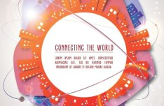 Abstract Connecting The World Background Vector