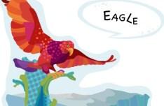 Cute Cartoon Eagle Illustration Vector
