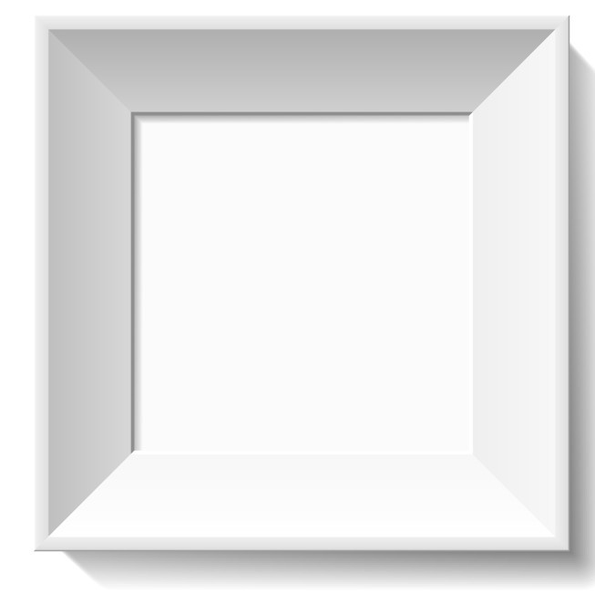 Free Simple White 3D Feel Photo Frame Vector