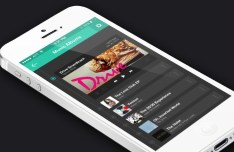 iPhone 5 Music APP GUI PSD