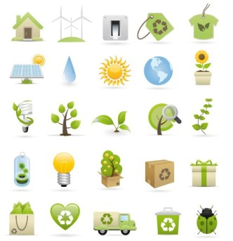 Fresh & Clean ECO Concept Vector Icons Collection