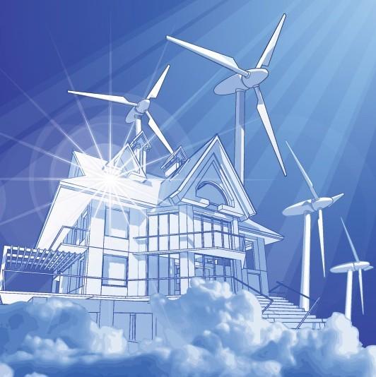 Vector Environmental Protection & Green Energy Design Elements 01