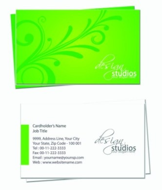 Simple and Clean Business Card Design Vector 03