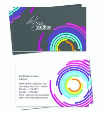 Simple and Clean Business Card Design Vector 04