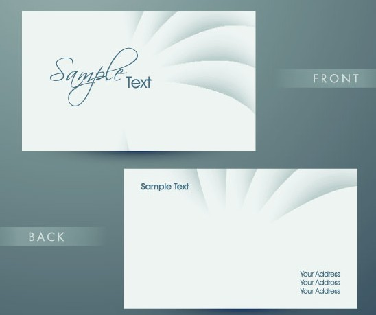 Super Simple Technology Business Card Design Template Vector
