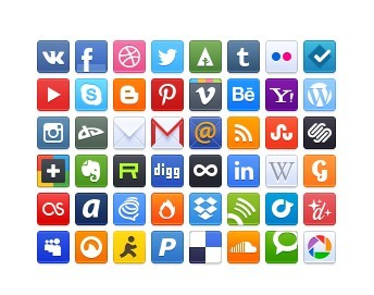 48+ Minimal Rounded Social Icons
