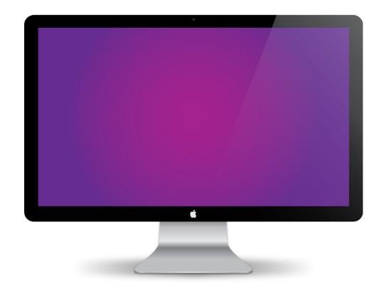 Free Apple Mac Monitor Vector Mockup Titanui