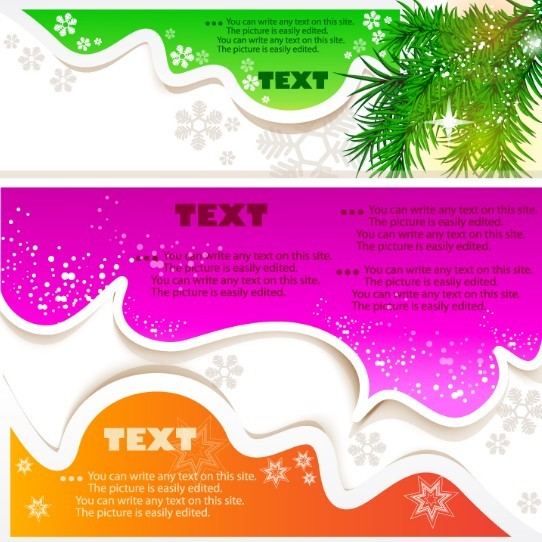 Lovely Christmas Speech Bubbles with Snowflake Backgrounds 03