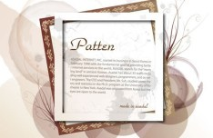 Set Of Vector Fresh Photo Frames With Floral Backgrounds